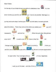 bridal shower gift poems free printable bridal shower household poem purchase all the