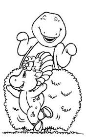 printable barney coloring pages kids whanco mylittlesweet