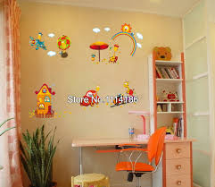 new 2014 cartoon happy giraffe rainbow wall sticker nursery new 2014 cartoon happy giraffe rainbow wall sticker nursery kids rooms diy art home decoration wall decals in wall stickers from home garden on