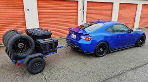 subaru brz matte blue i built a tire trailer u2013 series blue adventures