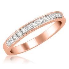 princess cut wedding ring 14k gold princess cut 16 bridal wedding band