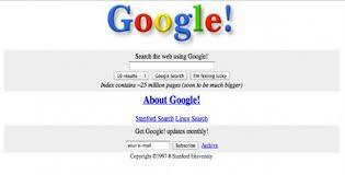 new google homepage design first designs of world s biggest websites