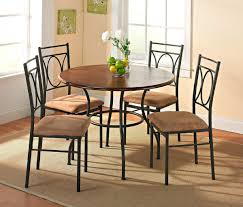 Metal Dining Room Chair by Hillsdale Cameron 5 Piece Round Wood And Metal Dining Table Set