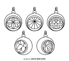 classic ornament outlines set vector