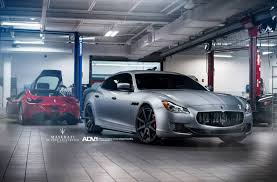 matte black maserati convertible maserati quattroporte gts lowered on adv 1 wheels gtspirit