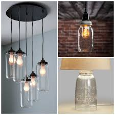 How To Make Mason Jar Chandelier Mason Jar Lighting Fixtures For Your Rustic Home The Country