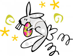 big easter bunny easter bunny with big teeth royalty free clip illustration