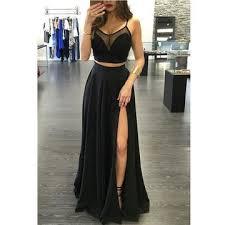 lolipromdress review 49 off long sexy black a line spaghetti straps sleeveless split