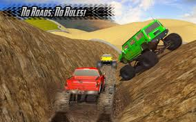 superheroes trucks car garage monster big monster truck rally racing 4x4 up hill climb android apps