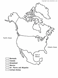 Continents And Oceans Map Map Coloring Pages