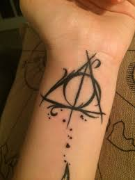 nice wrist with black ink hallows tattoo for tattoobite com