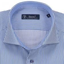 extra long navy blue stripe dress shirt by sleeve7