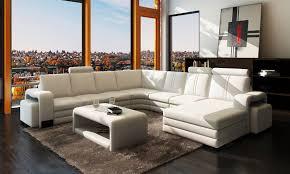 canapé angle u grand salon achat vente canapé en cuir ravenne u lecoindesign