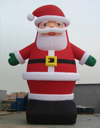 yolloy outdoor giant santa claus inflatable christmas for sale