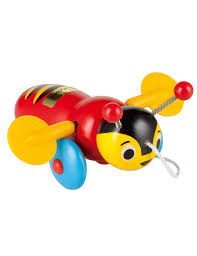 buzzy bee wooden pull along buzzy bee