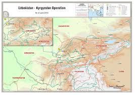 Kyrgyzstan Map Uzbekistan Kyrgyzstan Operation As Of June 2010 Kyrgyzstan
