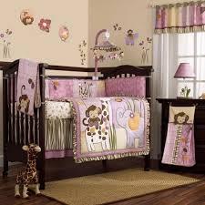Crib Bedding Animals Pink And Purple Jungle Safari Animals Baby 8pc Crib Bedding