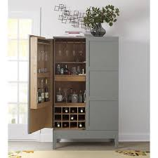 crate and barrel bar cabinet victuals grey bar cabinet by russell pinch for crate barrel