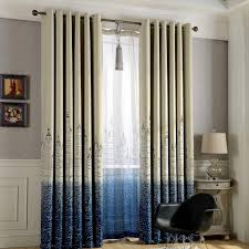 punching window curtains children bedroom shading european style