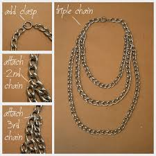 chain necklace diy images Triple chain statement necklace diy jpg