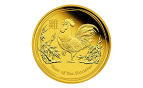 degussa welcomes the lunar new year with gold and silver rooster
