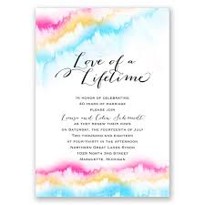 vow renewal invitations watercolor rainbow vow renewal invitation invitations by