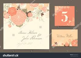 set backgrounds celebrate wedding invitation card stock vector