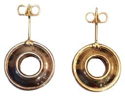 gold disc earrings co gold picasso magic reversible disc earrings