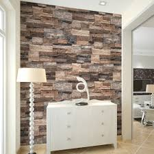 aliexpress com buy haokhome modern faux brick wallpaper tan aliexpress com buy haokhome modern faux brick wallpaper tan brown grey textured realistic stone rolls living room bedroom home wall decoration from