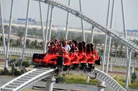 in abu dhabi roller coaster flying aces roller coaster front seat abu dhabi