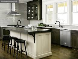 distressed black kitchen island distressed black kitchen island with butcher block top modern