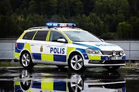 swedish police car vwpassat scandinavia pinterest police