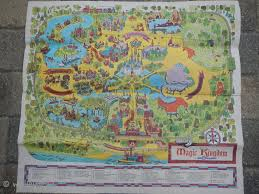 Disney World Magic Kingdom Map Rare Original 1971 Walt Disney World Disney Magic Kingdom Park