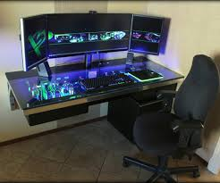 Large Gaming Desk Computer Gaming Desk Canada In Gaming Chairs Together With Pc