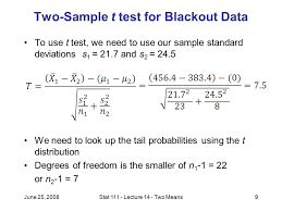 june 25 2008stat lecture 14 two means1 comparing means from two