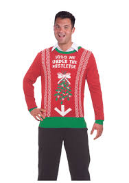 under mistletoe ugly christmas sweater