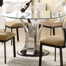 Glass Top Kitchen Table by Dining Tables Modern Round Glass Dining Room Table Glass Top