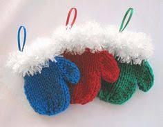 knit ornaments using brand bon bon yarn great