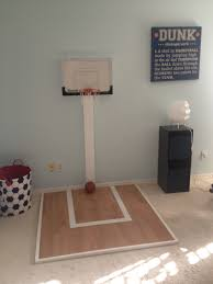 a mini basketball court in my 22 month old baby boy room a very a mini basketball court in my 22 month old baby boy room a very easy diy project play room maybe