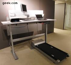 Walking Desk Treadmill Hands On Steelcase Walkstation Treadmill Desk Geek Com