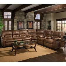 3 piece reclining sectional with table 596 by franklin wilcox