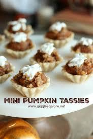 mini pumpkin tassies