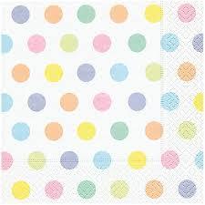 pastel polka dot paper napkins pipii