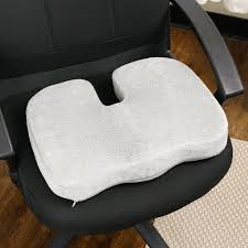 Gel Office Chair Cushion Aurora Aw204 Gray Memory Foam With Cooling Gel Coccyx Seat Cushion