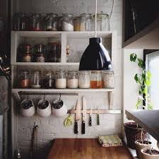 Small Rustic Kitchen Ideas Custom Wood Wall Mounted And Floating Spice Rack Storage Painted