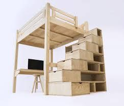 Chambre Ado Fille Avec Lit Mezzanine by Lit Mezzanine Alpage à Hauteur Variable Avec Escalier Cube Abc