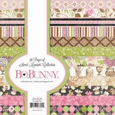 sweet moments 6x6 page pads by bo bunny for scrapbooks cards