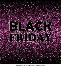 black friday pink sale pink glitter isolated on black background stock illustration
