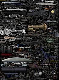 size comparison science fiction spaceships by dirkloechel on