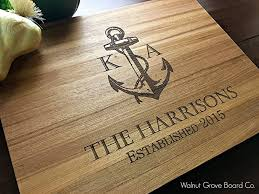 personalized cutting board nautical anchor personalized cutting board handmade